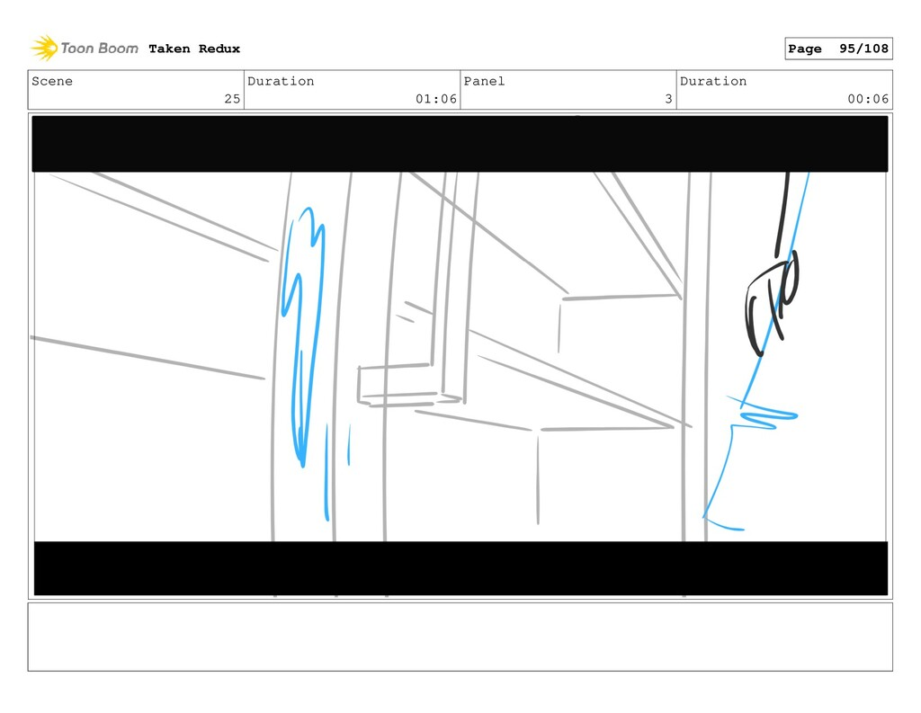 Scene 25 Duration 01:06 Panel 3 Duration 00:06 ...