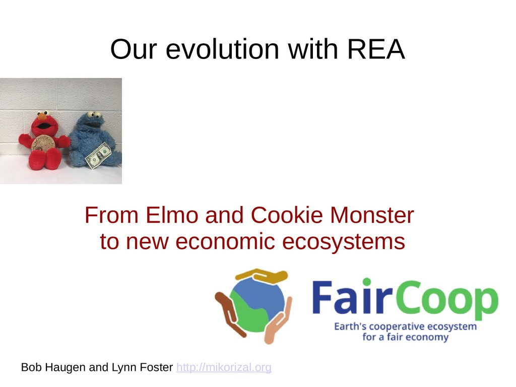 Our evolution with REA From Elmo and Cookie Mon...