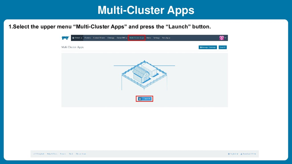 """1.Select the upper menu """"Multi-Cluster Apps"""" an..."""