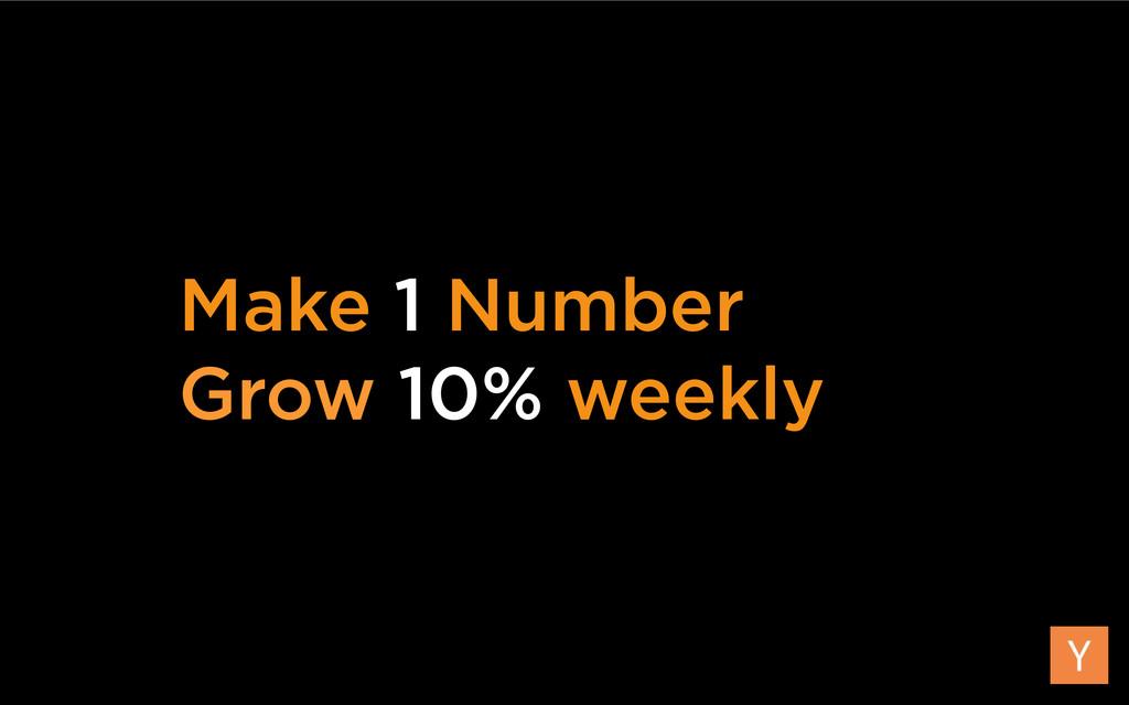 Make 1 Number Grow 10% weekly