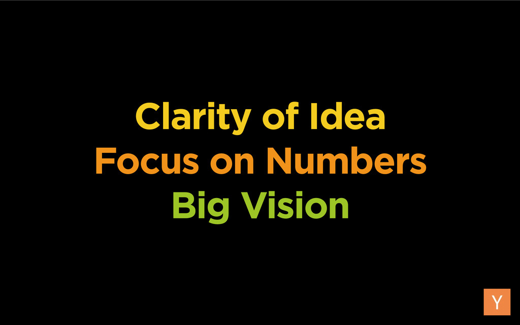 Clarity of Idea Focus on Numbers Big Vision