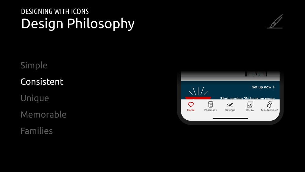 DESIGNING WITH ICONS Design Philosophy Simple C...