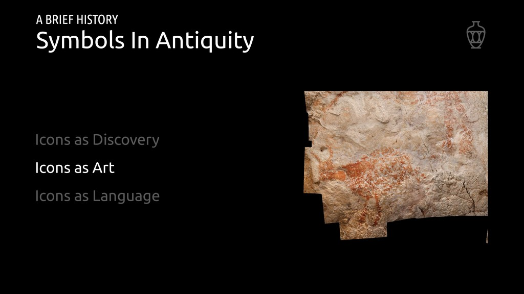 A BRIEF HISTORY Symbols In Antiquity Icons as D...