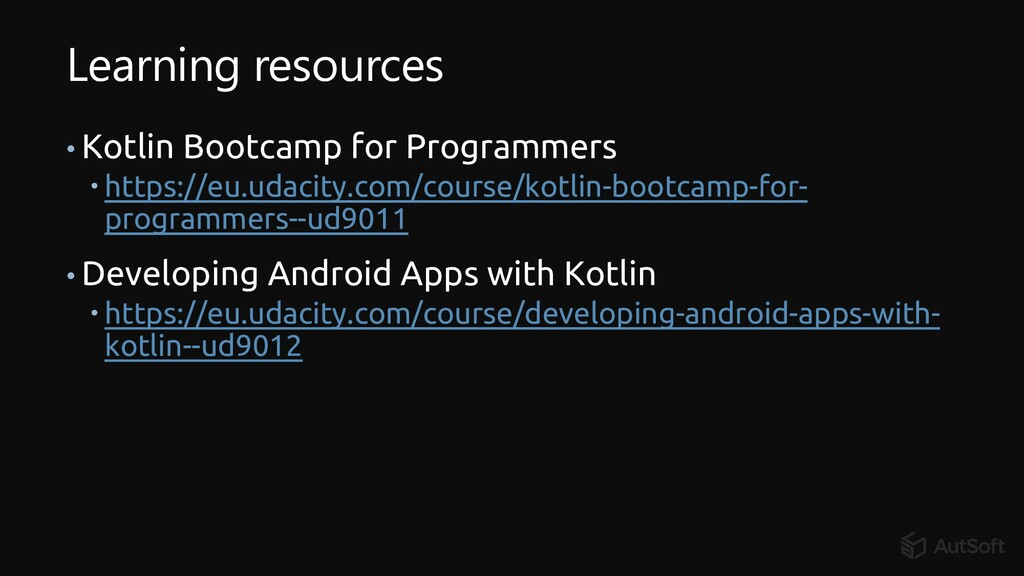 Learning resources • Kotlin Bootcamp for Progra...