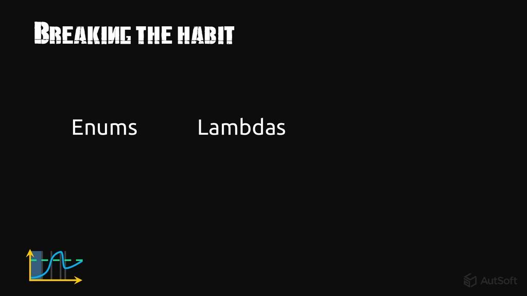 Breaking the habit Enums Lambdas