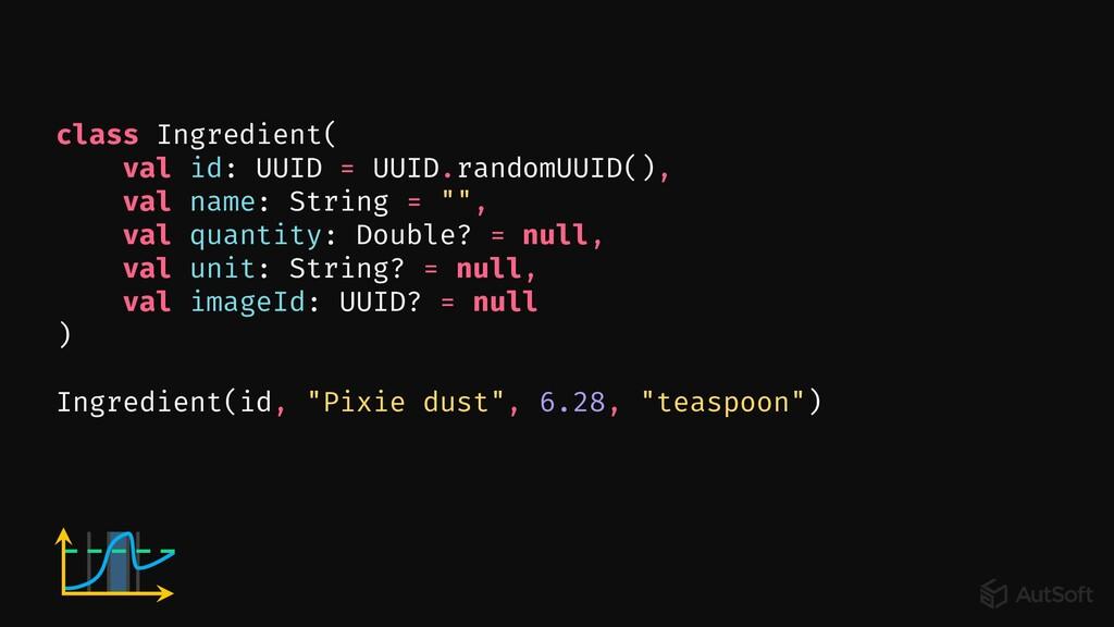 class Ingredient( val id: UUID = UUID.randomUUI...