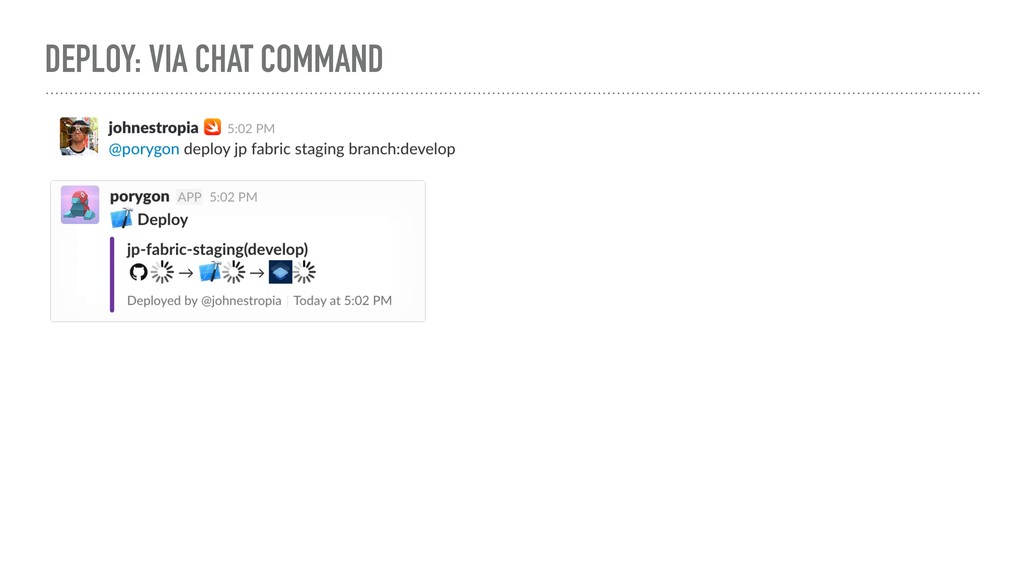 DEPLOY: VIA CHAT COMMAND