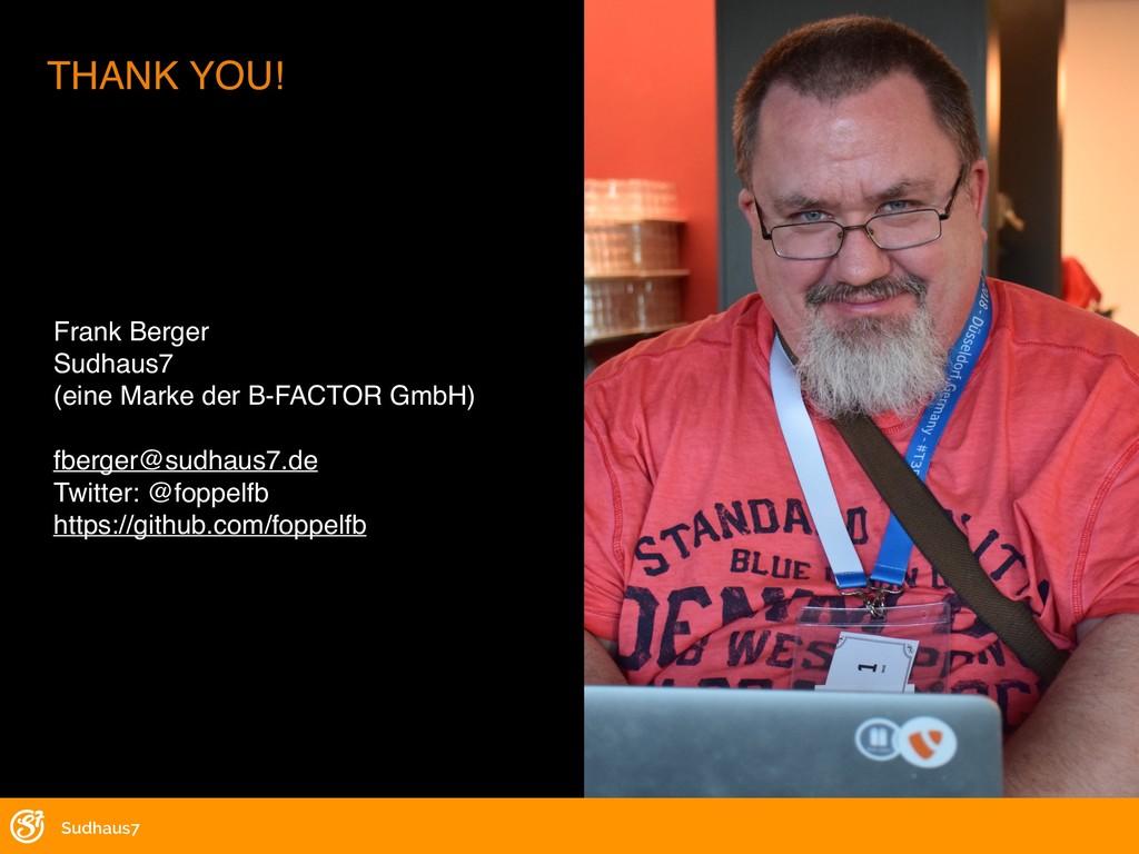 Frank Berger Sudhaus7 (eine Marke der B-FACTOR ...