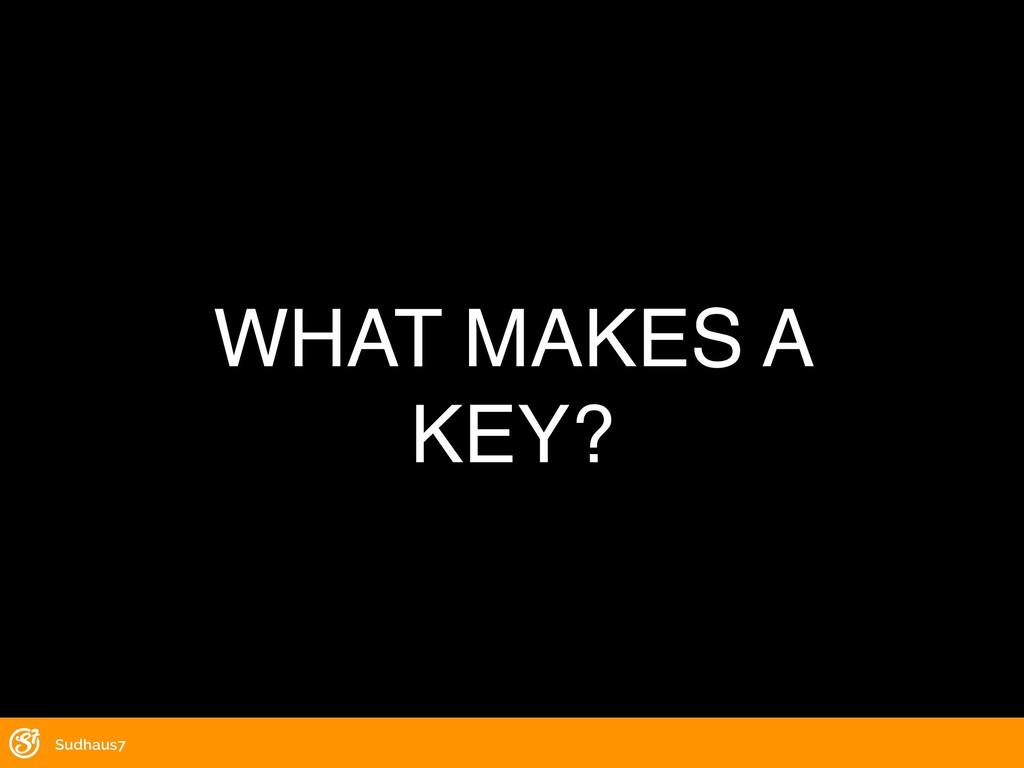 WHAT MAKES A KEY? Sudhaus7