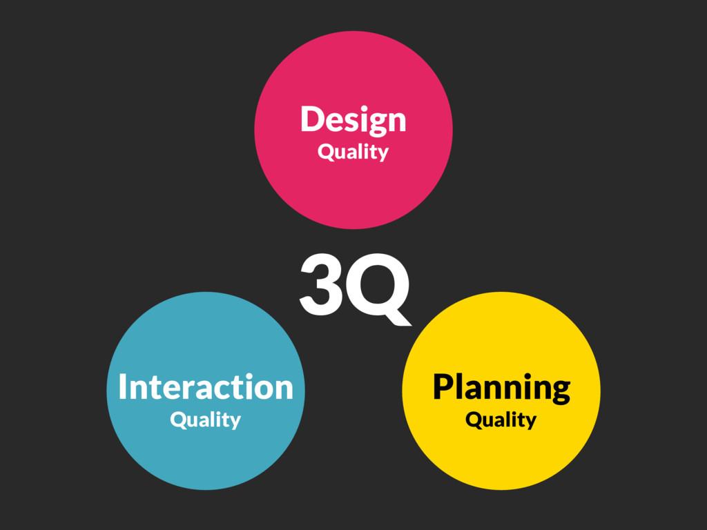 Interaction Quality Design Quality Planning Qua...