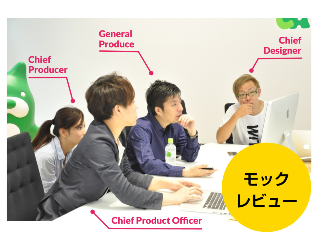 ϞοΫ ϨϏϡʔ Chief Producer Chief Product Officer G...
