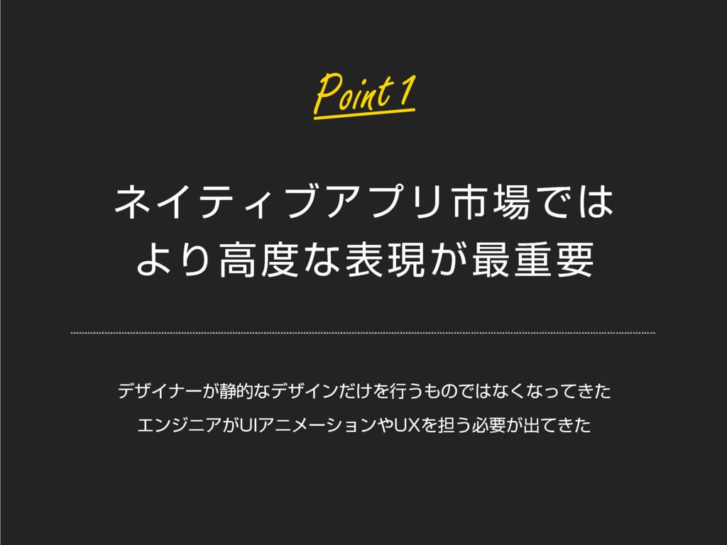 ωΠςΟϒΞϓϦࢢͰ ΑΓߴͳදݱ͕࠷ॏཁ Point 1 σβΠφʔ͕੩తͳσβΠϯ...