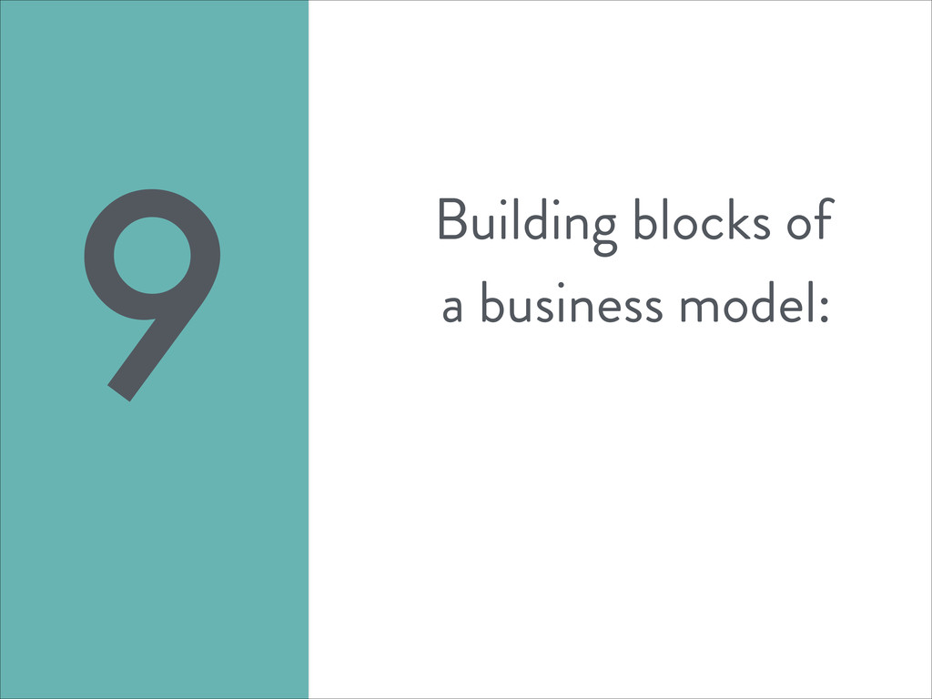 Building blocks of a business model: 9