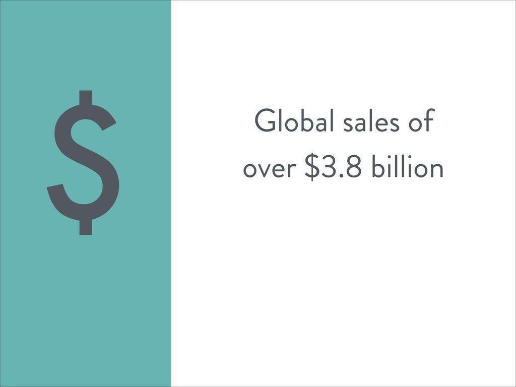 Global sales of over $3.8 billion $