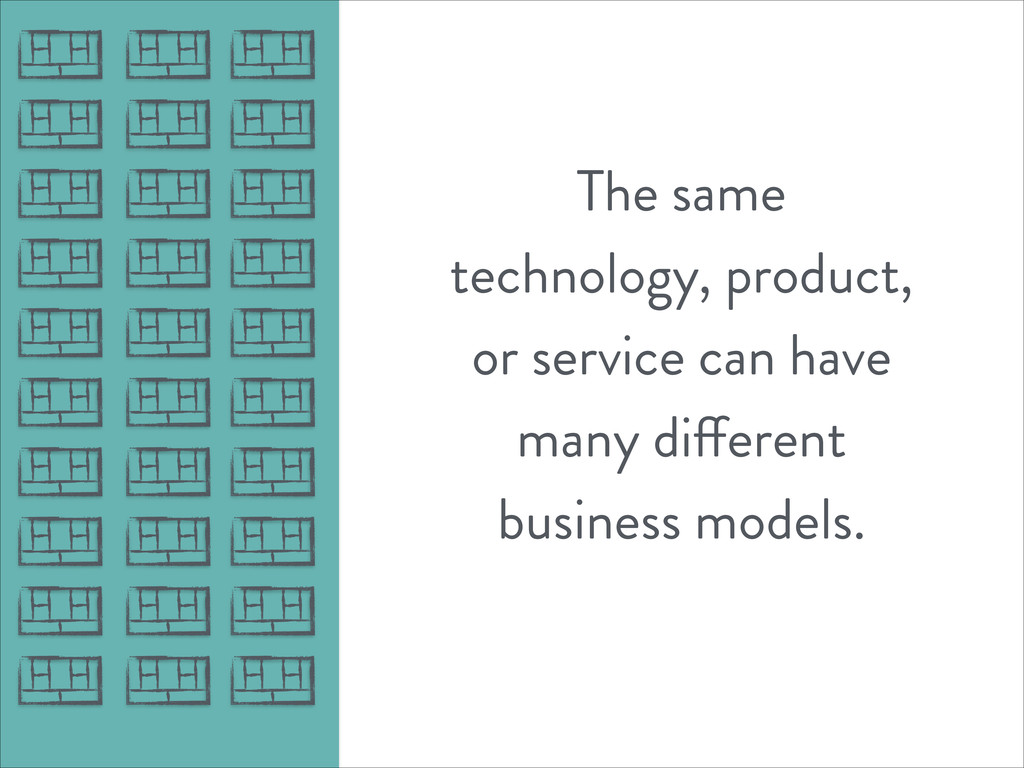 The same technology, product, or service can ha...
