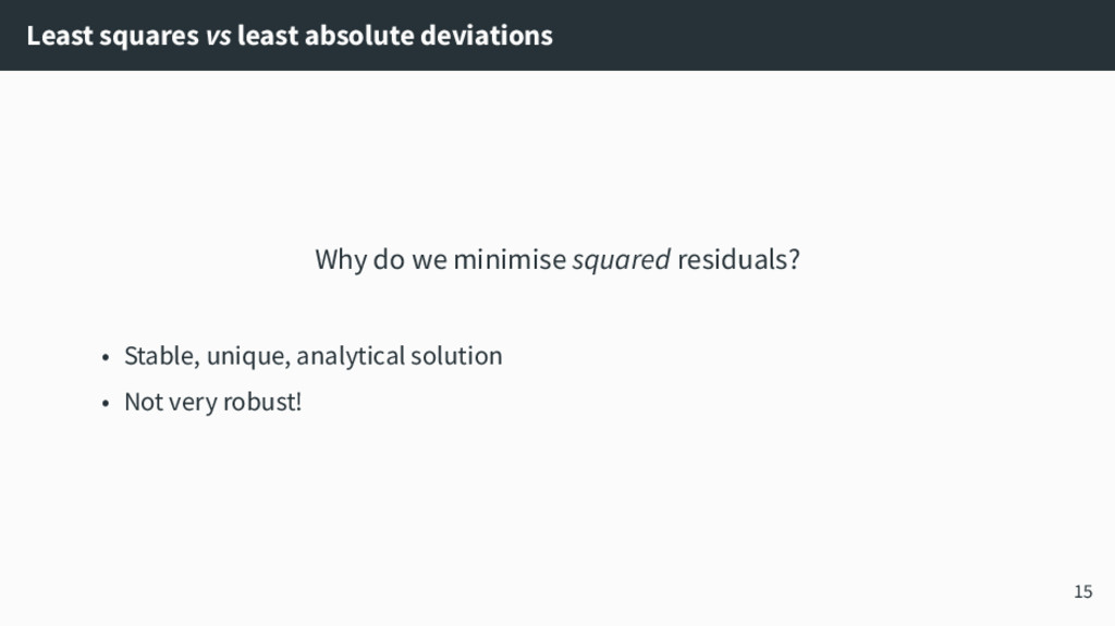 Least squares vs least absolute deviations Why ...
