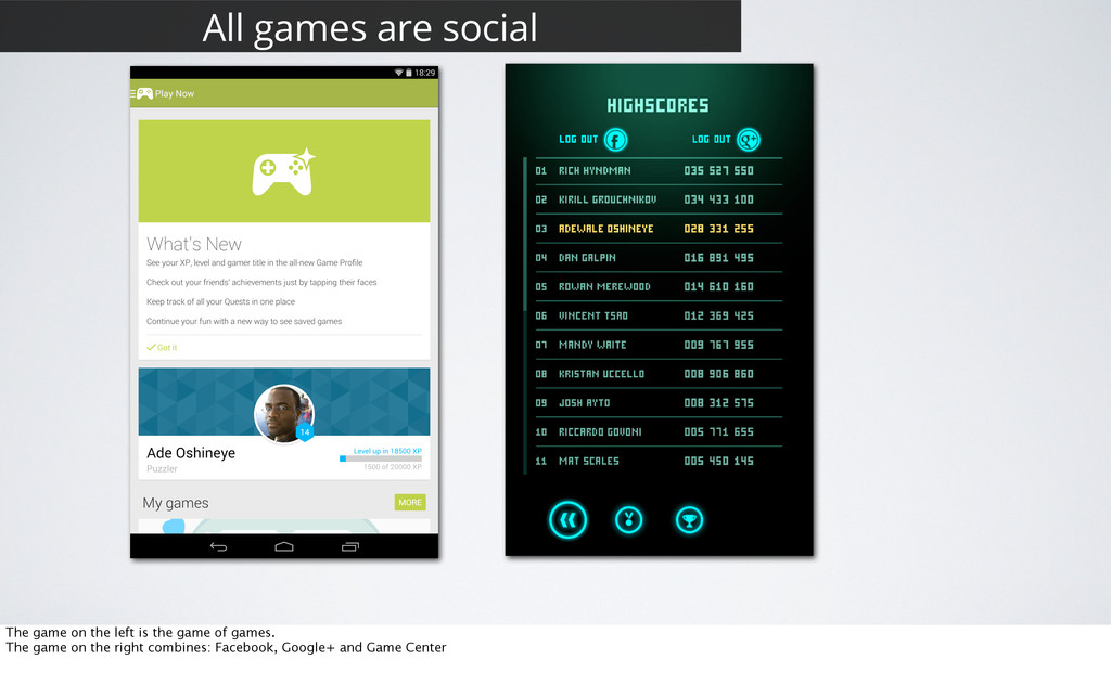 27 All games are social The game on the left is...