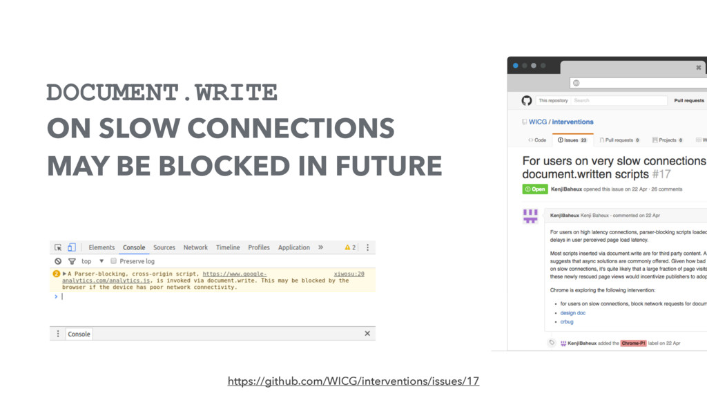 DOCUMENT.WRITE ON SLOW CONNECTIONS MAY BE BLOCK...