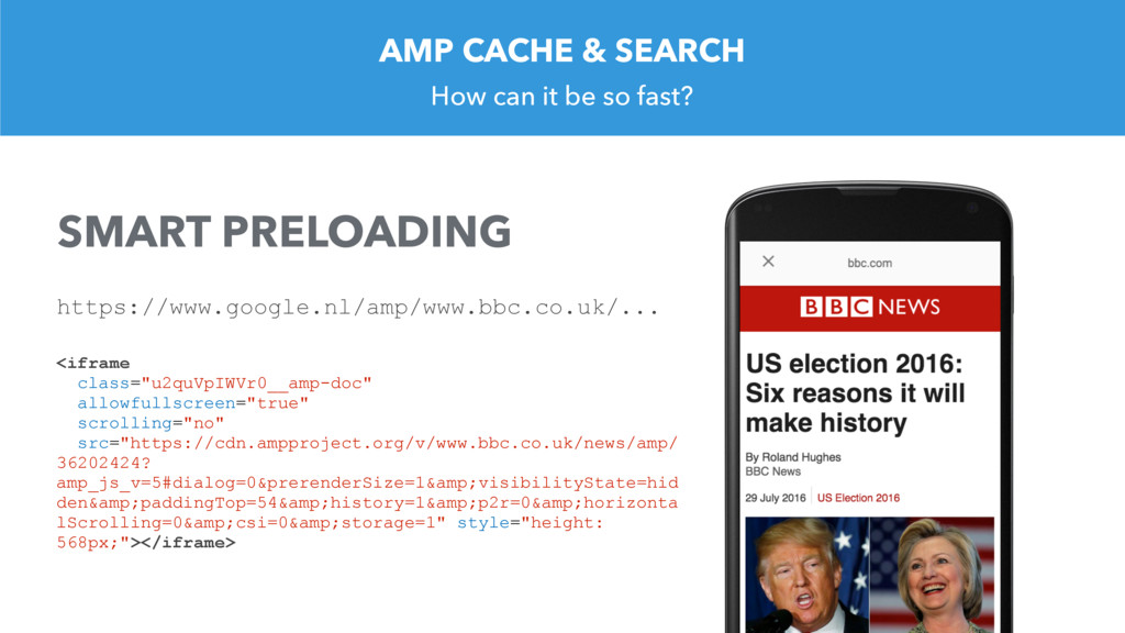 AMP CACHE & SEARCH How can it be so fast? <ifra...