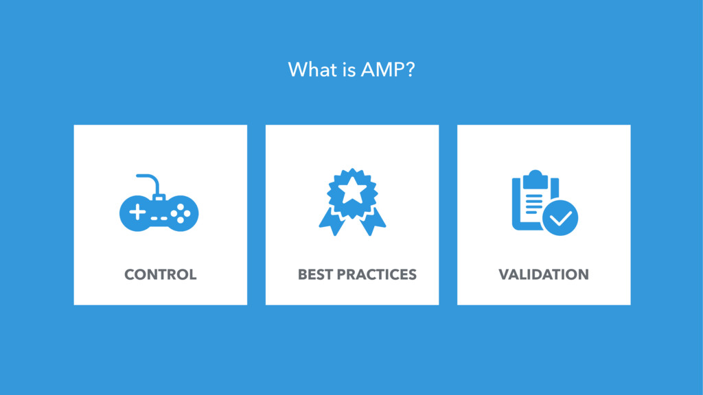 124 What is AMP? CONTROL BEST PRACTICES VALIDAT...