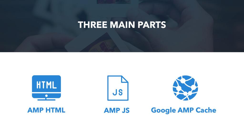THREE MAIN PARTS AMP HTML AMP JS Google AMP Cac...