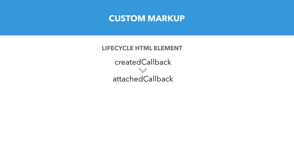 CUSTOM MARKUP LIFECYCLE HTML ELEMENT createdCal...