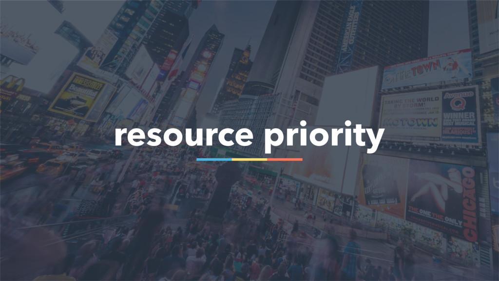 45 resource priority
