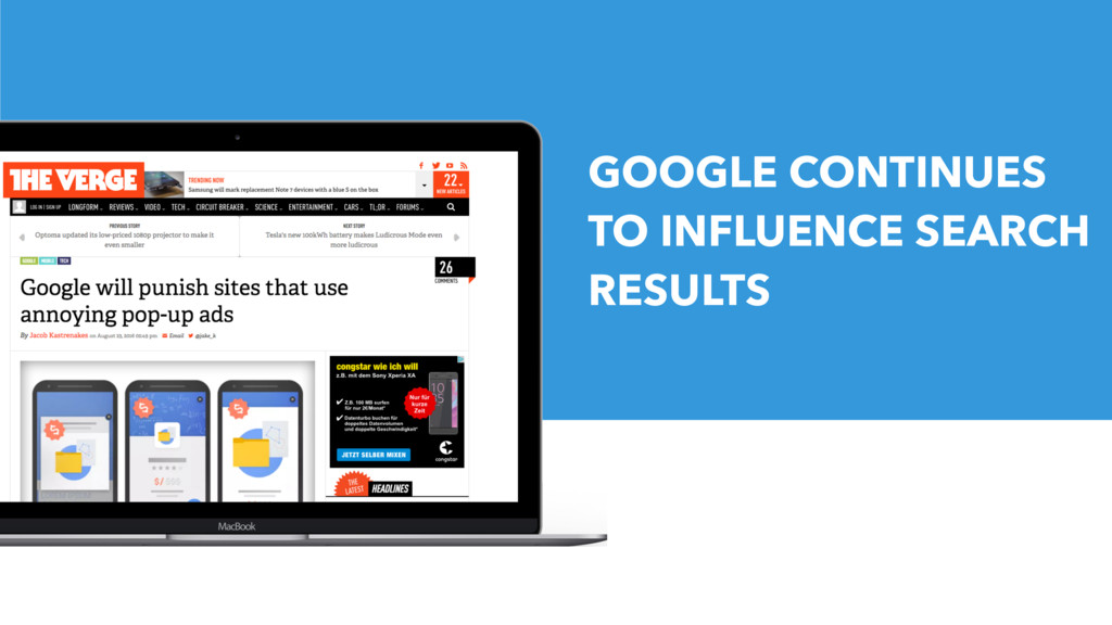 GOOGLE CONTINUES TO INFLUENCE SEARCH RESULTS