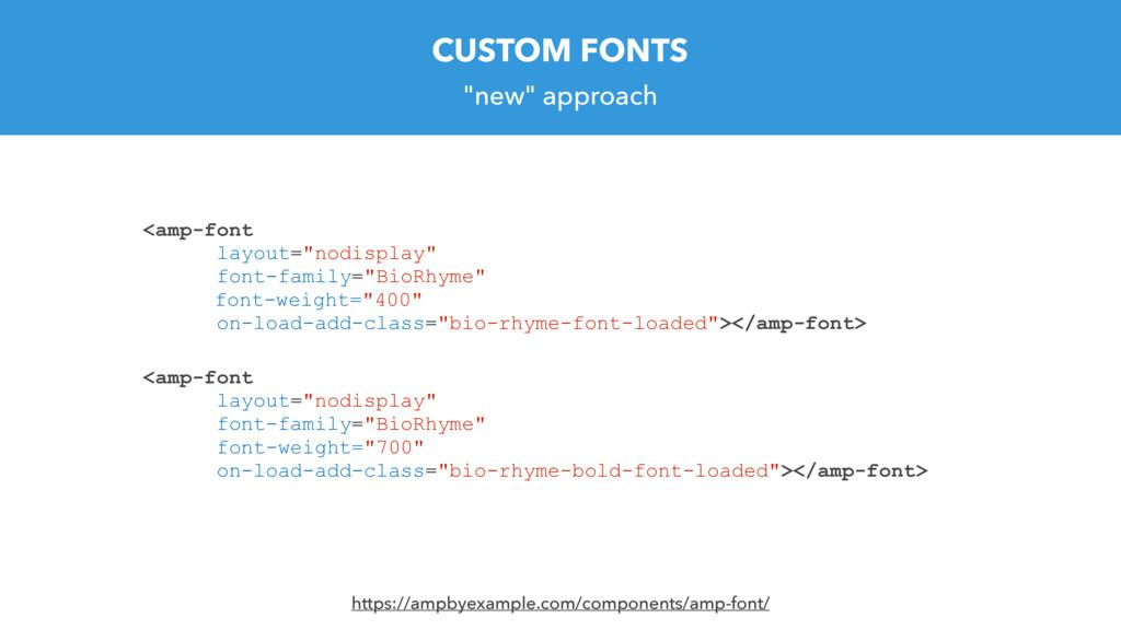 """new"" approach <amp-font layout=""nodisplay"" fon..."