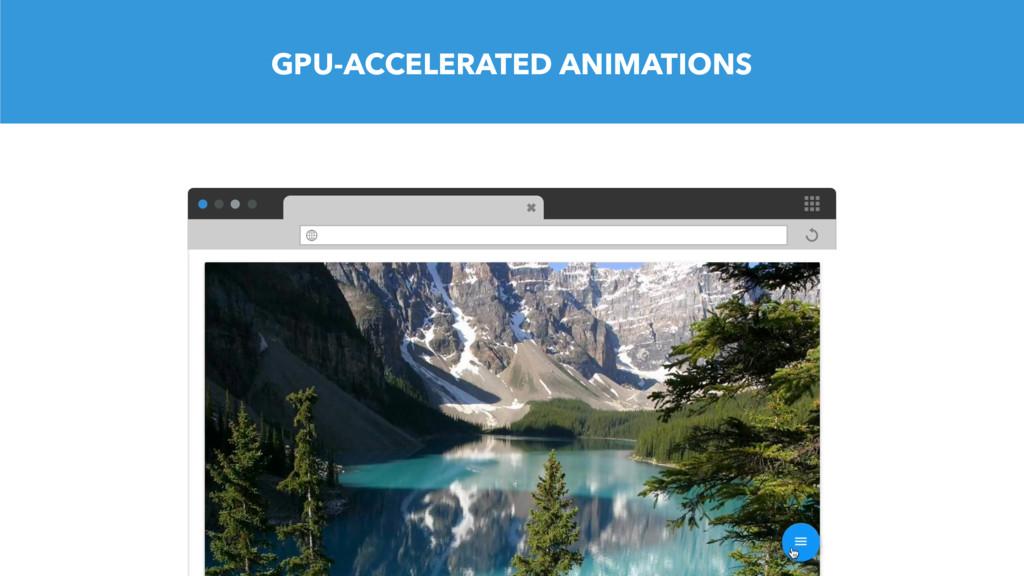 GPU-ACCELERATED ANIMATIONS