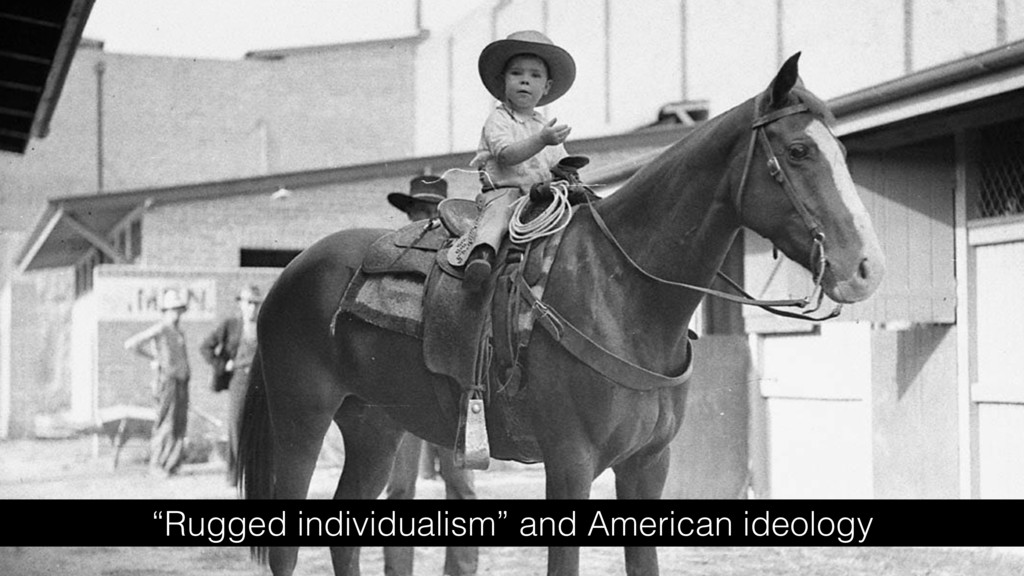 """Rugged individualism"" and American ideology"