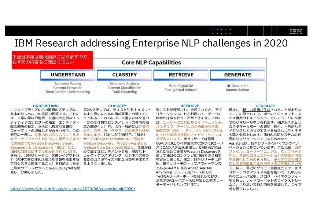 IBM Research addressing Enterprise NLP challeng...