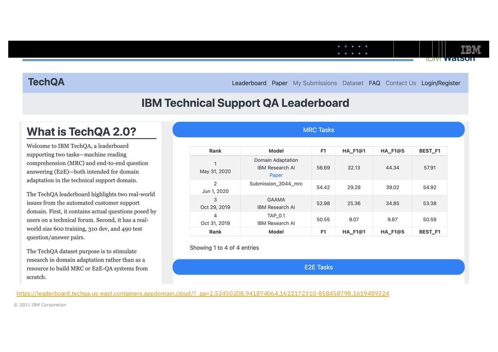 © 2021 IBM Corporation https://leaderboard.tech...
