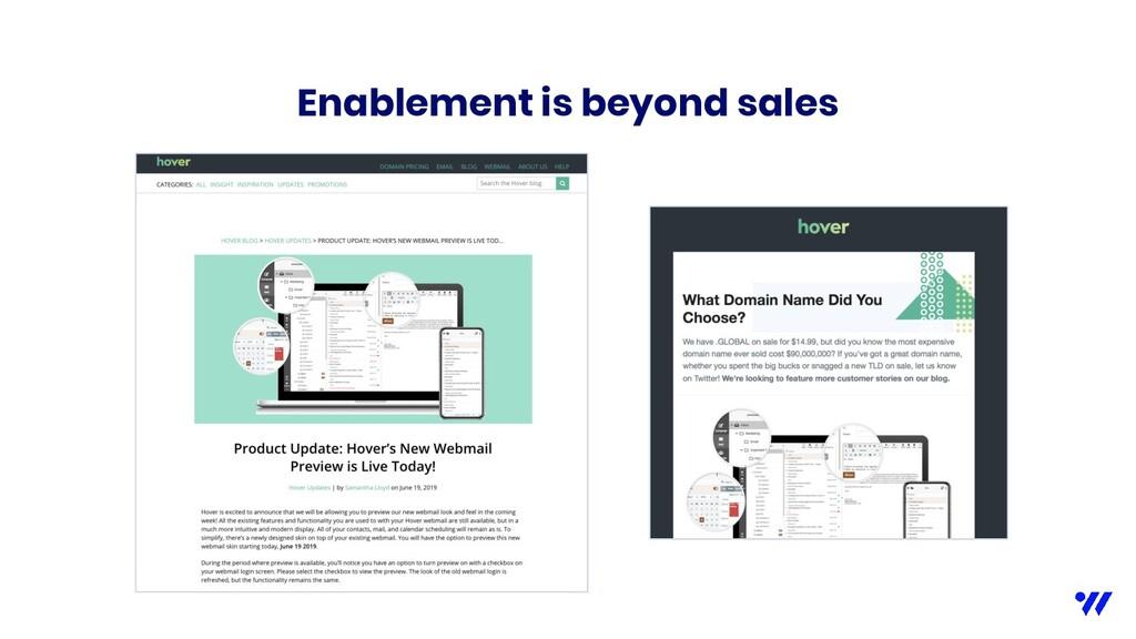 Enablement is beyond sales
