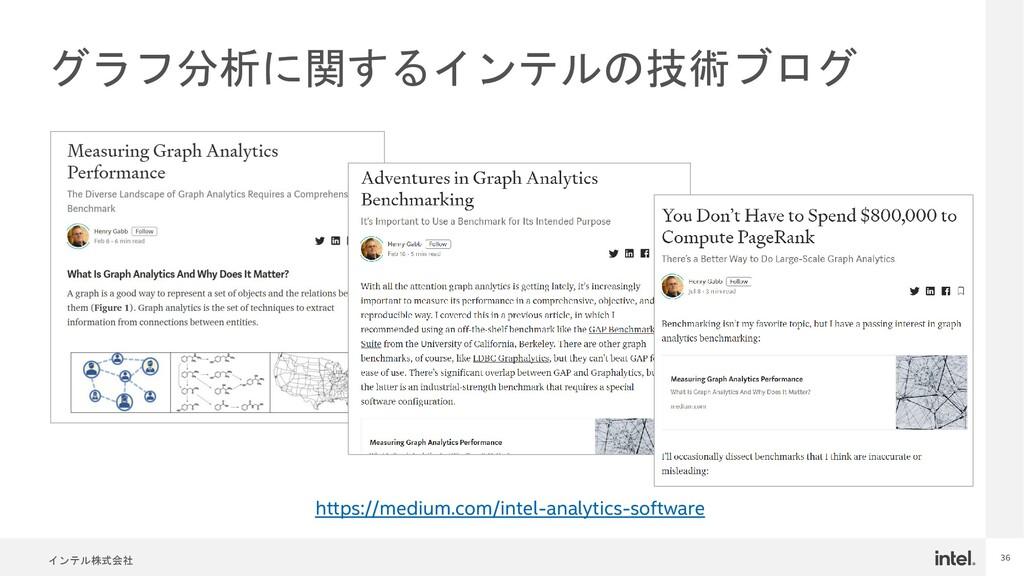 インテル株式会社 36 グラフ分析に関するインテルの技術ブログ https://medium....