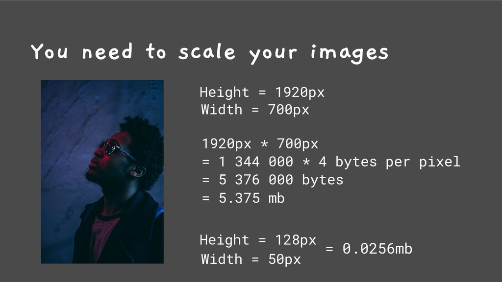 You need to scale your images Height = 1920px W...
