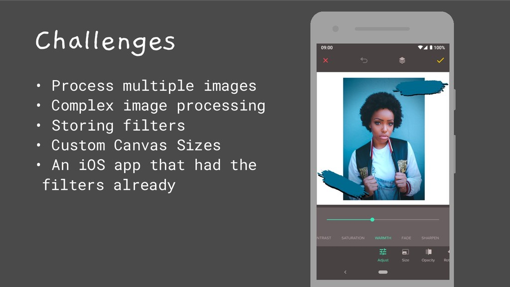 Challenges • Process multiple images • Complex ...