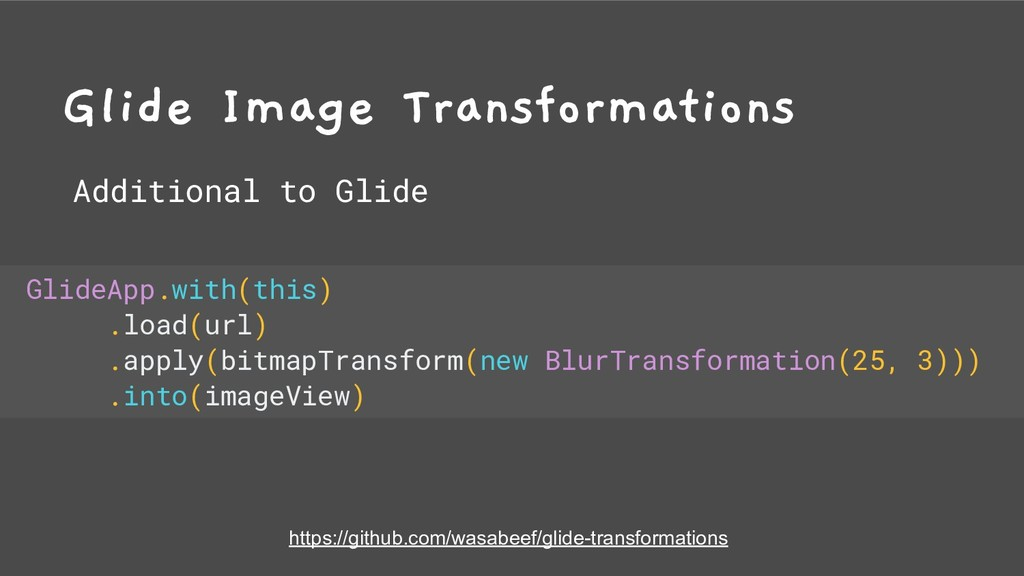 Glide Image Transformations Additional to Glide...