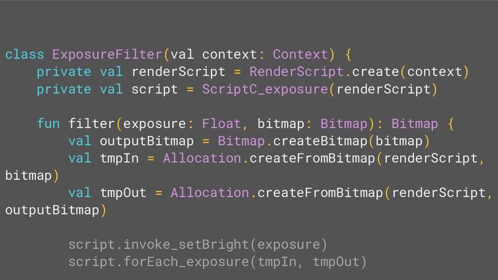 class ExposureFilter(val context: Context) { pr...