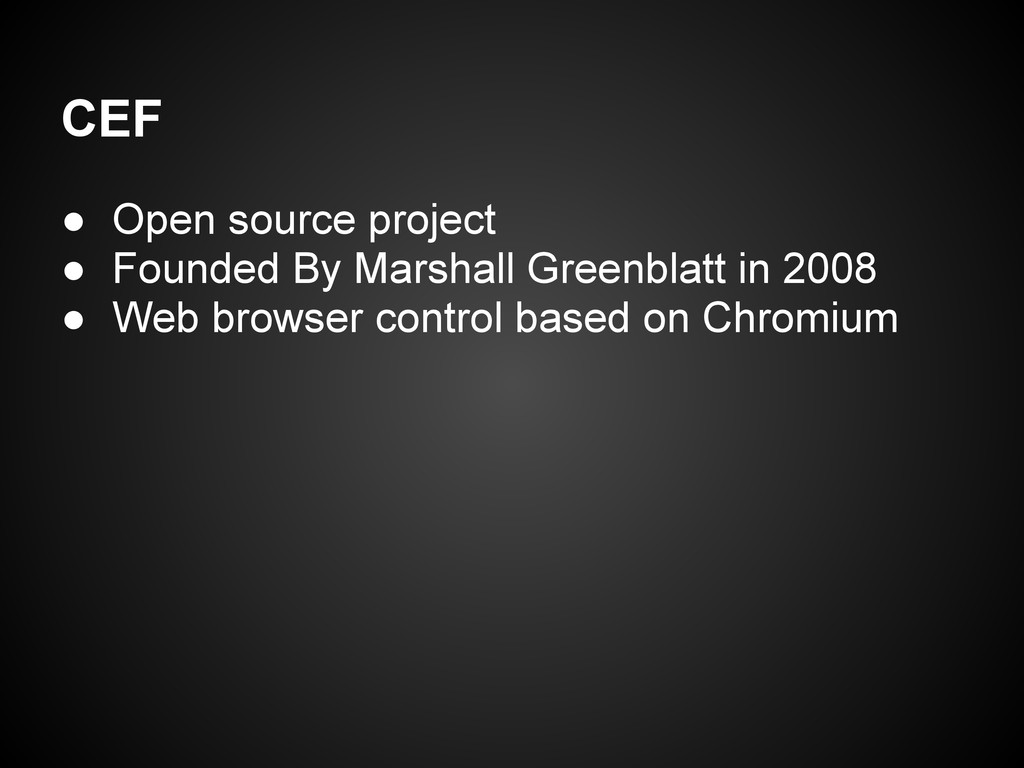 ● Open source project ● Founded By Marshall Gre...