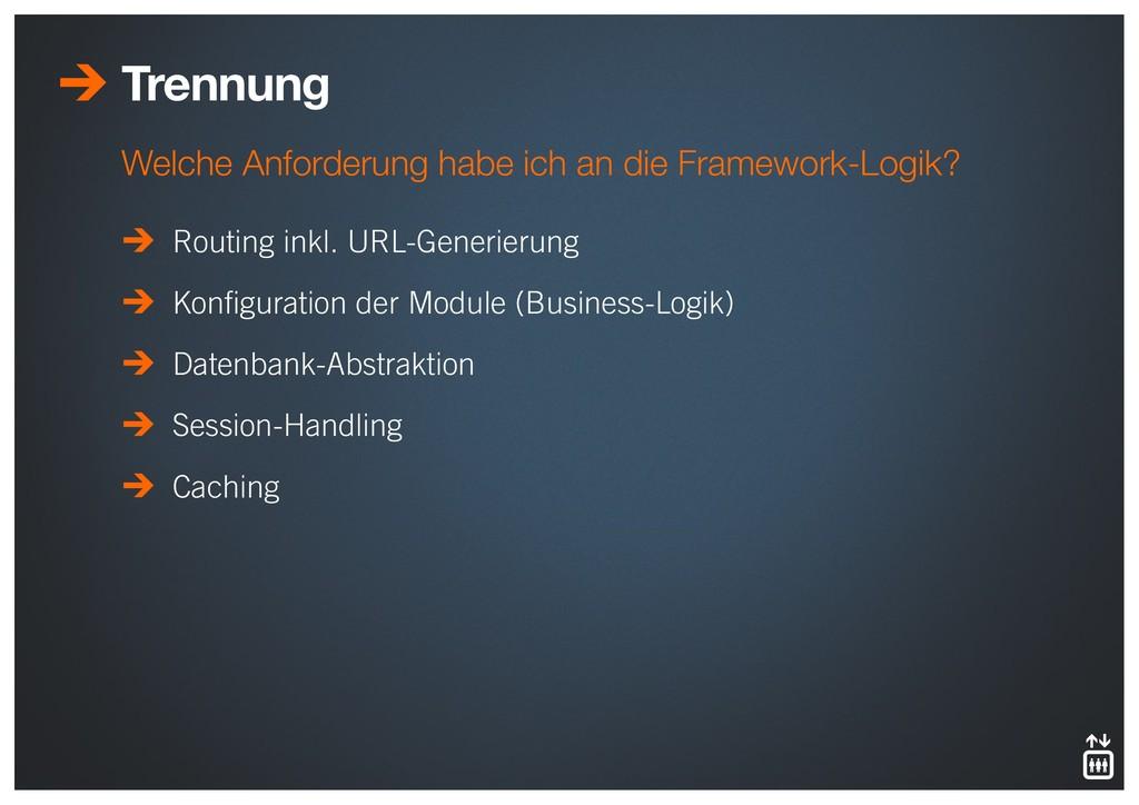 Trennung Routing inkl. URL-Generierung Konfigura...