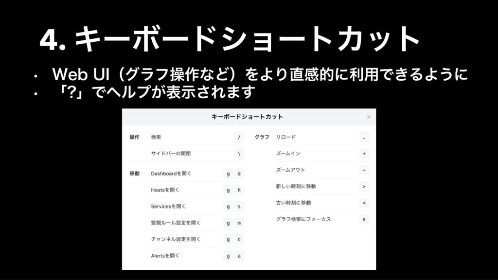 4. ΩʔϘʔυγϣʔτΧοτ • 8FC 6*ʢάϥϑૢ࡞ͳͲʣΛΑΓײతʹར༻Ͱ͖ΔΑ͏...