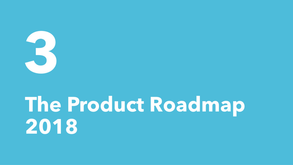 3 The Product Roadmap 2018