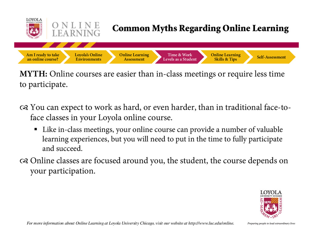 Am I ready to take an online course? Loyola's O...