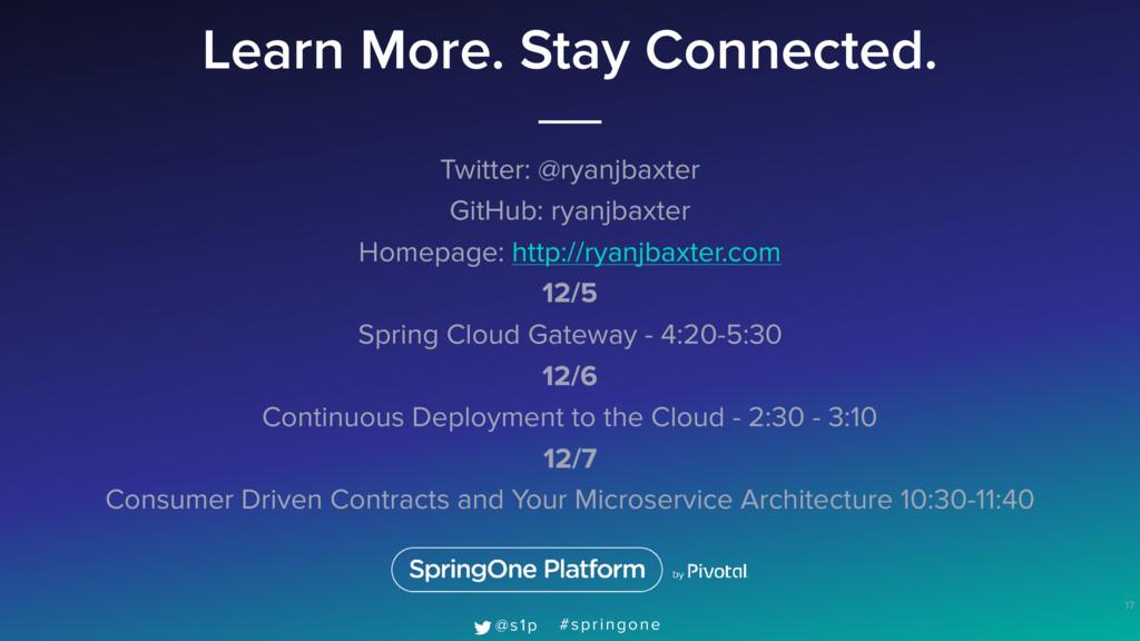 Learn More. Stay Connected. Twitter: @ryanjbaxt...