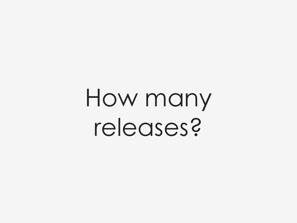 How many releases?