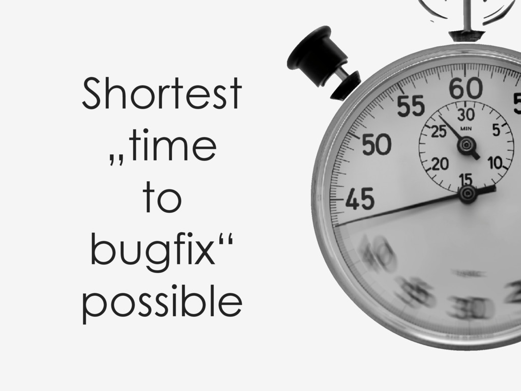 "Shortest ""time to bugfix"" possible"