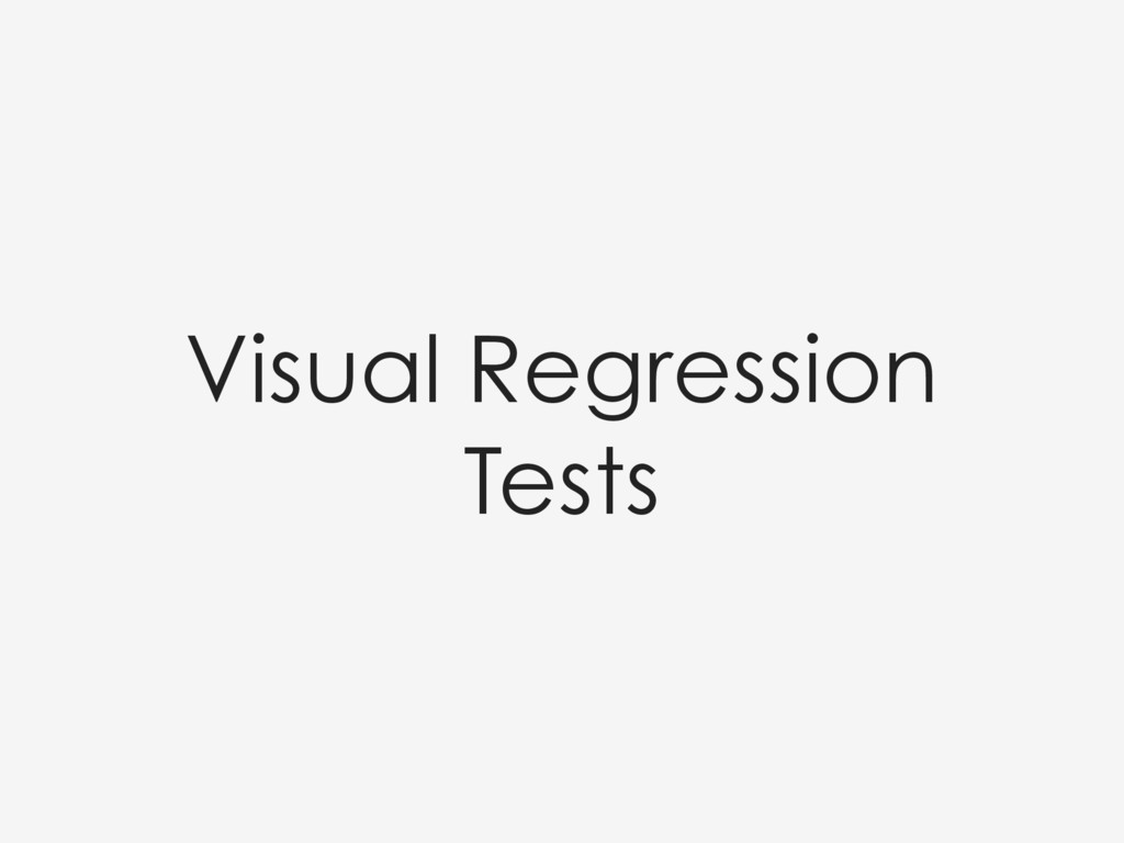 Visual Regression Tests