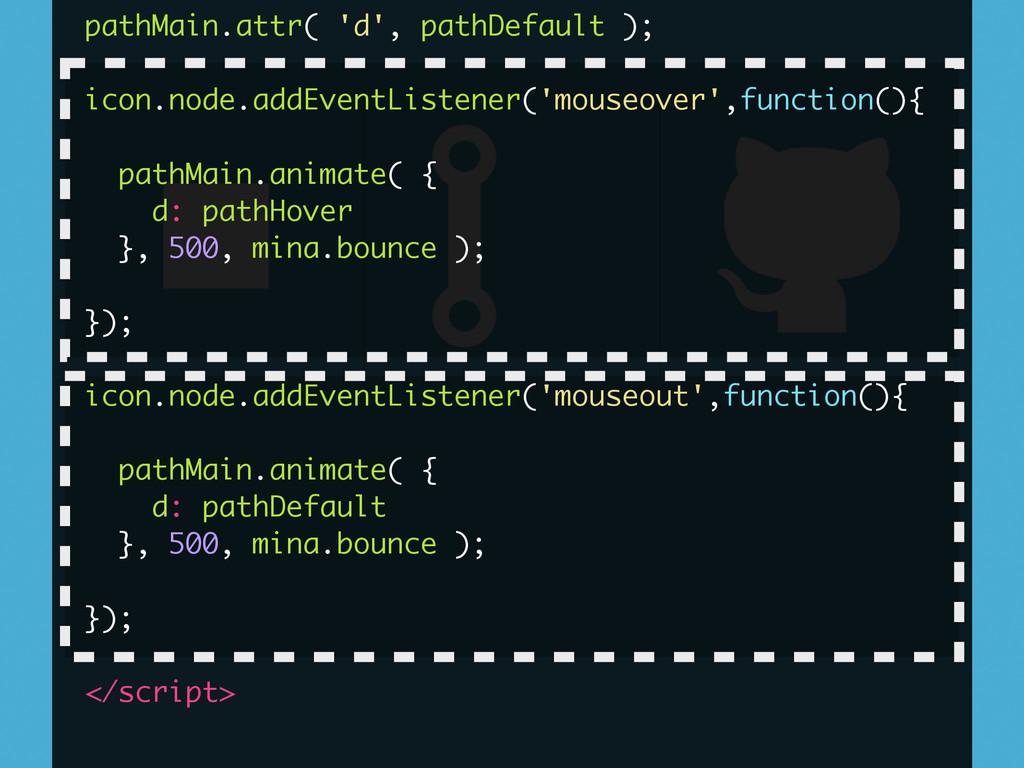 pathMain.attr( 'd', pathDefault ); ! icon.node....