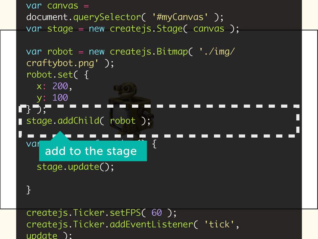 var canvas = document.querySelector( '#myCanvas...